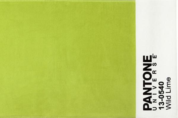 Telo mare cimato di spugna in puro cotone BASSETTI Pantone Universe - Wild Lime